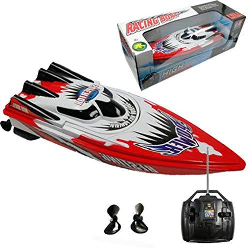 HehiFRlark Twin Motor High Speed Boat Rc Racing Racing Boat - Mando a distancia para niños (batería roja)