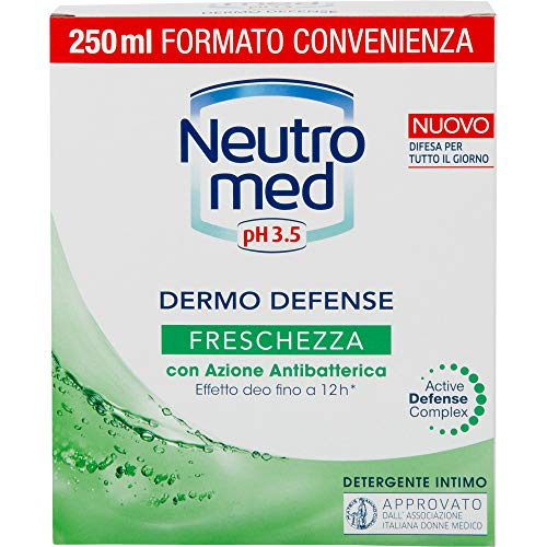 Neutromed, Detergente Intimo Dermo Defense Freschezza con Azione Antibatterica, 250ml