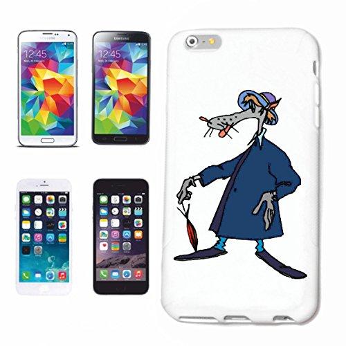 Hoes voor mobiele telefoon compatibel met iPhone 7 + Plus Wolf in regenjas Cartoon Plezier Fun Cult Film Cartoon Plezier Fun Cult Film Boots Hardcase beschermhoes mobiele telefoon