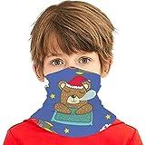 lymknumb Cooling Face Cover Christmas Sleeping Bear Diadema Bandanas Boca Cubierta Cuello Polaina Adolescentes Al aire libre A prueba de polvo Mágico