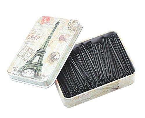 [Tour] 200pcs noir Bobby Pins métalliques Pins cheveux avec Belle Box Tin