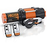 ORCISH 12V Waterproof 4500lb Electric ATV UTV Synthetic Rope Winch Kits (4500 Synthetic Rope H)