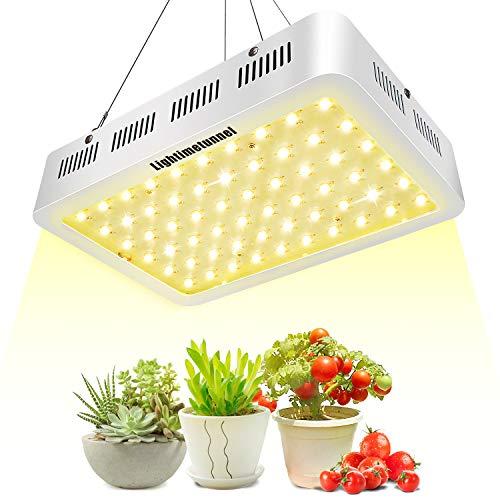 600W LED Grow Light, Lightimetunnel 3500K Full Spectrum Plant Light Bulbs for Hydroponic Greenhouse Indoor Plants Seeds Veg and Flower