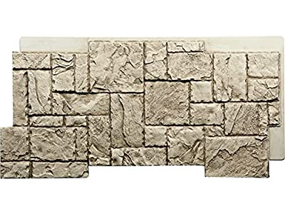 Spencer Chiseled Faux Stone Panels (Rich Beige, 1)