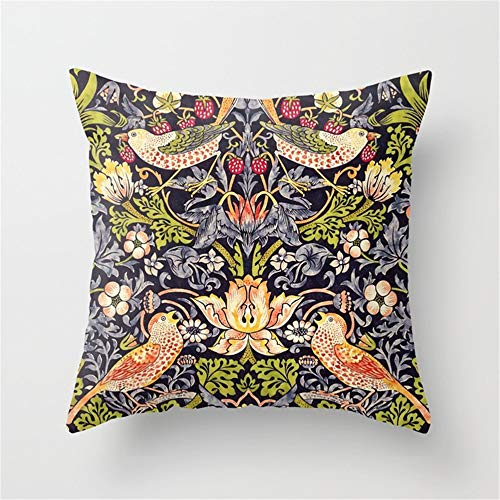 DearLord William Morris Strawberry Thief Art Nouveau Painting Throw Pillow Case Cushion Cover 18 X 18 Inches