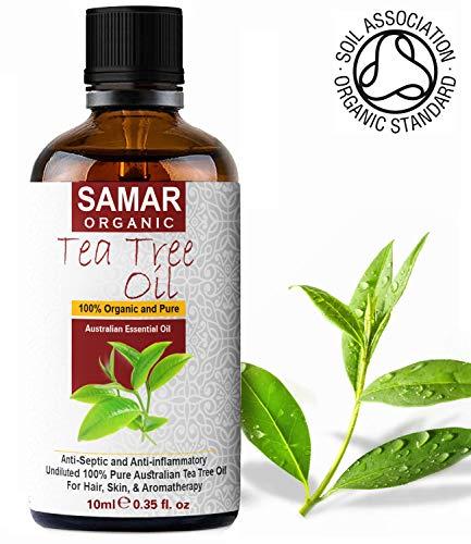 L'olio di Melaleuca - Qualità Premium Olio di Albero del Tè australiano 100% biologico. Prodotto naturale, vegano e non diluito, antisettico, usato in trattamento di cura della pelle - 10ml
