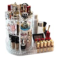 Makeup Organizer, 360-Degree Rotating Adjustable Multi-Function Acrylic Cosmetic Storage, Transparent, Stylish Design, Cosmetic and Jewelry Storage Display Boxes for Bedroom, Bathroom