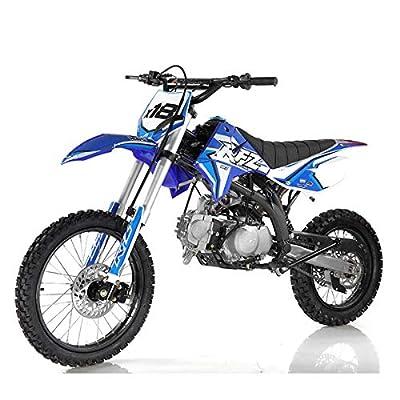 125cc Dirt Bike Pit Bike Adults Dirtbikes Pitbikes 125 Dirt Pit Bike (Blue) from Apo