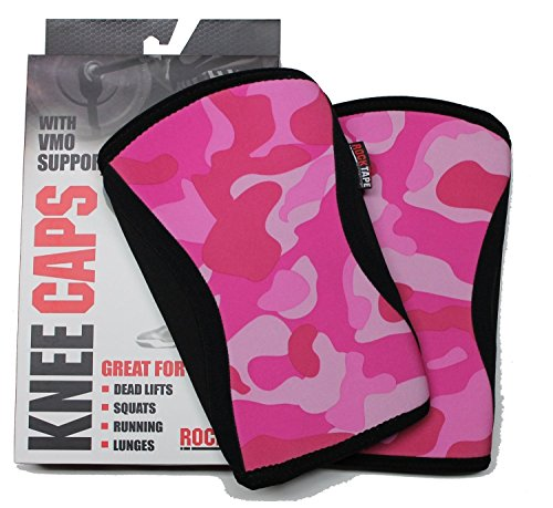 RockTape Knee Sleeves, 2-Pack, Competition Grade, 5mm Thickness, Compression Neoprene, Extra Long for VMO Support, Manifesto, XS