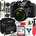 Nikon COOLPIX B600 16MP 60x Opt. Zoom Wi-Fi Digital Camera Black - (Renewed) Bundle with Deco Gear Camera Travel Bag (Small), 12 Rubberized Tripod/Grip Corel Paint Shop Pro 2019 Software and More by Nikon