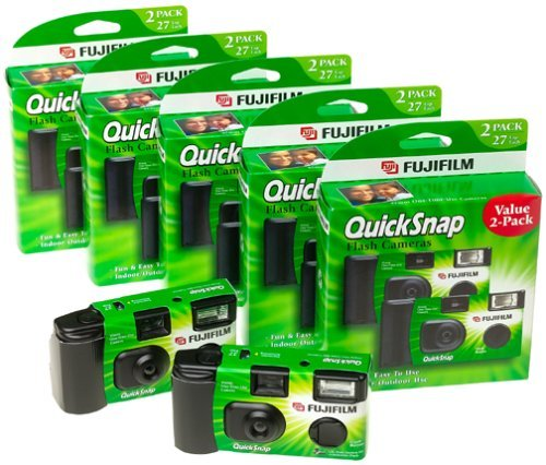 Fuji 35mm QuickSnap Single Use Camera, 400 ASA (FUJ7033661) Category: Single Use Cameras (Discontinued by Manufacturer), 20 Count