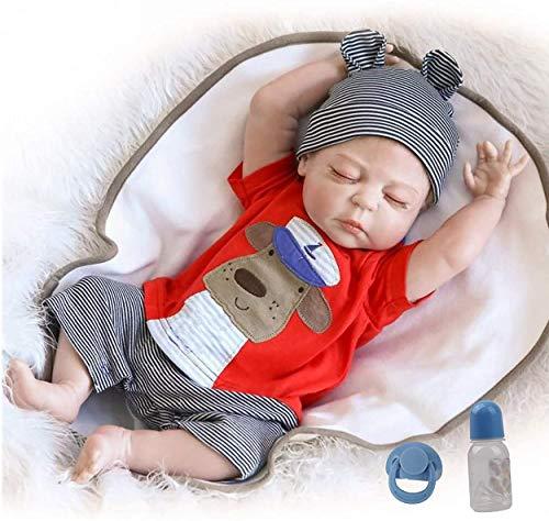 antboat Bambola Reborn Maschio 20 Pollici 50cm Silicone Per Tutto il Corpo Bambole Reborn Originali Reborn Baby Giocattoli Per Neonati Regali di Natale Reborn Bambola