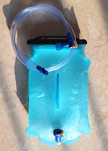 Baen Sendi Hydration Bladder 2 Liter 70oz/3 Liter 100oz - Water Storage Bladder for Hydration Pack System (Blue, 70 oz/2 Liter)