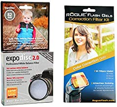 ExpoDisc 82mm White Balance Filter w/Rogue Flash Gels Color Correction