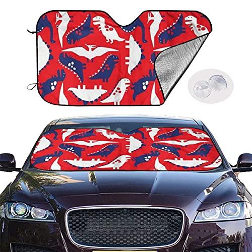 IUBBKI Parasol con diseño de dinosaurio, 129,5 x 69,8 cm, para máxima protección UV y sol, plegable