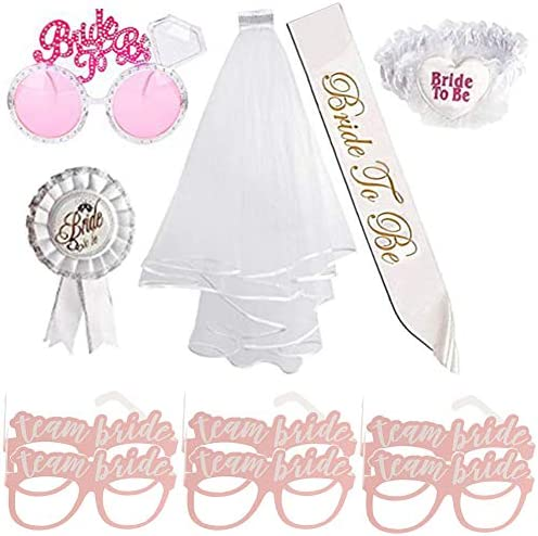 MOAMG Bride To Be Party Supplies Kit Bachelorette Party Decorations Set Includes Wedding Veil product image