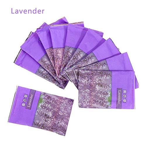 Xinger 10 stks deodorant garderobe kast zakjes auto zakje gedroogde kleding vochtige meeldauw geur geur kruiden tassen, lavendel