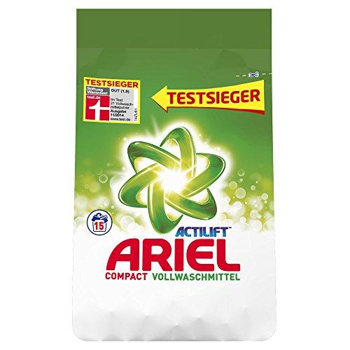 Ariel Vollwaschmittel Pulver Compact Regulär, 5er Pack (5 x 15 Waschladungen)