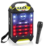 Portable Bluetooth Karaoke Speaker System - Audio Recording Function, 32 GB USB/SD Card Support, Built-in...