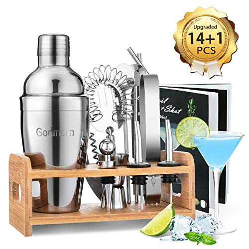 Godmorn 14 pices Cocktail Set Bar Kit Bar Tool Set,...
