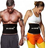RBS Men's and Women's Heavy Quality Body Shaper Sweat Slim Belt Slimming (Black)