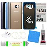 Galaxy S8+ Back Glass Replacement Cover with Pre-Installed Camera Lens + All The Adhesive + Installation Manual + Repair Tool Kit for Samsung Galaxy S8 Plus SM-G955 All Carriers (Maple Gold)