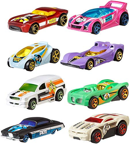 Hot Wheels 2019 Disney 90th Anniversary Exclusive 8 Car Set- All 8 Included.