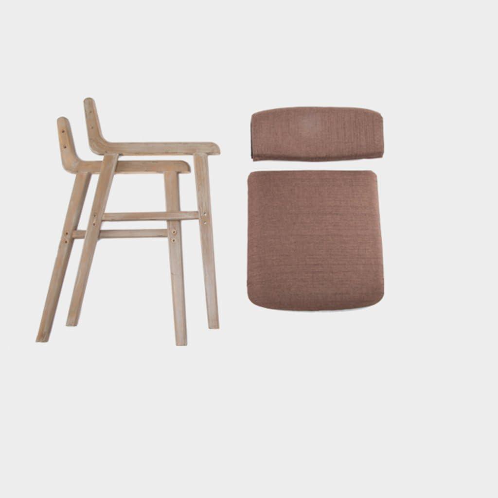 Simple Moderne Minimaliste Rétro Repas En Bois Chaise À Manger Accoudoir Casual Adult Ordinateur Bureaux Et Chaises (Couleur : 13) 3