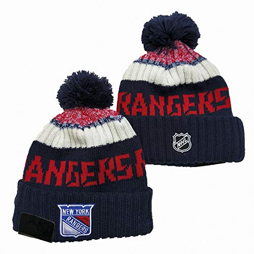 MIAOR NHL New York Rangers Strickmütze Warm Beanie Cap Wraparound Multicolor...