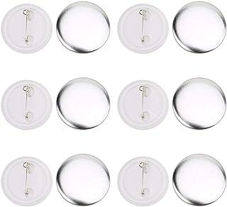 100pcs 37mm Bouton d'insigne Badge Bouton Rond Trousse de badge grande épingle en plastique transparent pour Fournitures d...