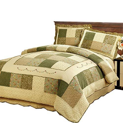 Cotton Double Duvet Covers Set Bedspread Quilted Floral Vintage Patchwork Quilt Duvet Covers Double Bed Pillowcase Sets Bedding Set 100% Cotton Twin King Size Bed
