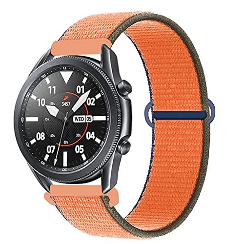 Watch Band Banda De 20 Mm / 22 Mm para Galaxy Watch 3 45 Mm / 46 Mm / 42 Mm/Activo 2 Samsung Gear S3 Frontier Nylon Pulsera Huawei Watch GT 2 2E Pro