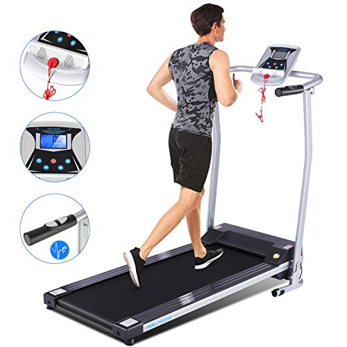 ANCHEER Upgraded Treadmills for Home, Electric Treadmill with LCD Motorized Running Walking Jogging Exercise Fitness Machine Trainer Equipment for Home Gym Office (Sliver)