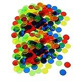 F Fityle 200 Fichas de Bingo Translúcidas Accesorios de Tarjeta de 3/4 Pulgadas Juego de Bingo Juguete de Conteo Color Mezclado