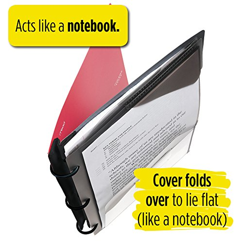 Five Star Flex Hybrid NoteBinder, 1 Inch Binder with Tabs, Notebook and 3 Ring Binder All-in-One, Red (72005) Photo #9