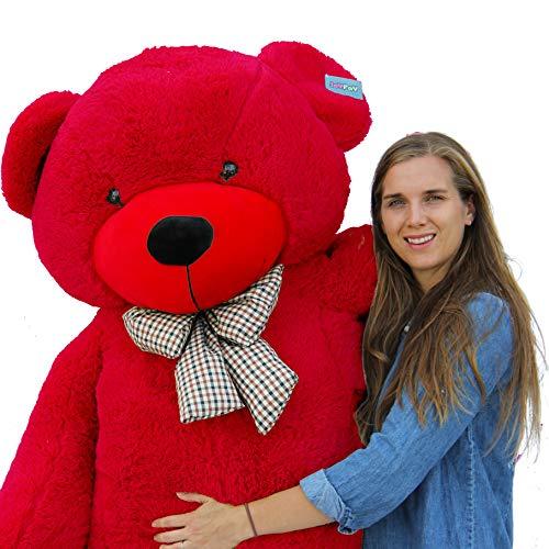Joyfay Riesen Teddybären Stofftier Weiche Waschbar (200 cm, Weinrot)
