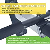 Ultimate Body Press Wall Mount Pull Up Bar with 4 Grip Positions and Upgraded Design for 2019