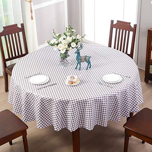 LRR Rond tafelkleed 60 inch, ruimte voor 4 tot 6 personen, nieuw jaar tafelkleed, kreukvrij en vuilafstotend stof voor Nieuwjaar winter home party eettafel decoraties, kerstmis tafelkleed