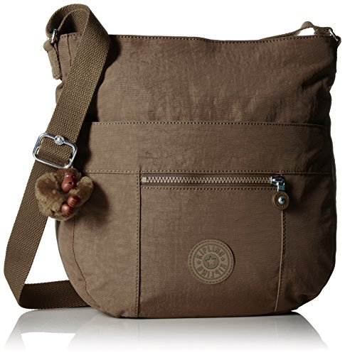 Kipling Bailey Tonal Saddle Bag Handbag, Soft Earthy Beige T