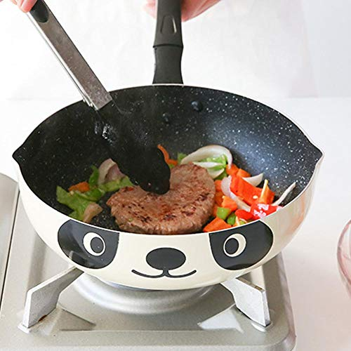 Energiebesparende pan met antiaanbaklaag, stenen pot inductiekookplaat Universele wokpan uit aluminium met antiaanbaklaag (26 cm)