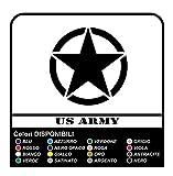 Adesivo STELLA US ARMY cm 20x20 stella militare 4X4 (NERO OPACO)