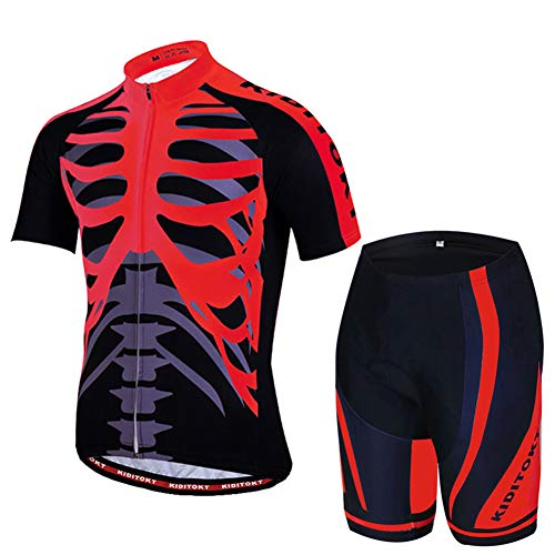 HUIGE Fietsshirts Mannen Fietsshirts Fietskleding Fietsbroek Korte mouwen Jas Stretch Buiten Mode Ademende Recreatie Sport Outfit