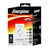Energizer Connect Smart in-Wall Outlet with USB Port, Remote Control and Voice Control | Compatible with Alexa and Google Assistant EWO3-1001-WHT