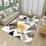 alfombra de salon grandes Salón alfombra gris estilo de dibujos animados patrón de montaña alfombra suave lavado de agua Gris alfombra grande 140X200CM alfombras de habitacion juvenil 4ft 7.1''X6ft 6.