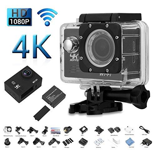 2.0 Pollici V60 Macchina Fotografica di Azione, 4K 30FPS 16MP H.264 30M WIFI / Impermeabile, 170 Gradi Grandangolare, Full HD