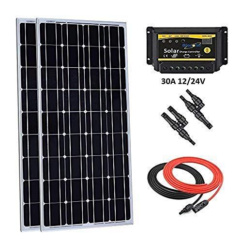 motorhome camping Lowenergie 100W 12V folding solar charging kit for motorhome yacht van other off-grid 12V system campervan caravanning caravan boat
