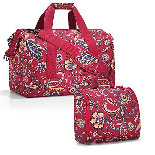 reisenthel Allrounder L mit toiletbag XL und wahlweise mit extra Zugabe Reisetasche Waschtasche (Paisley Ruby)