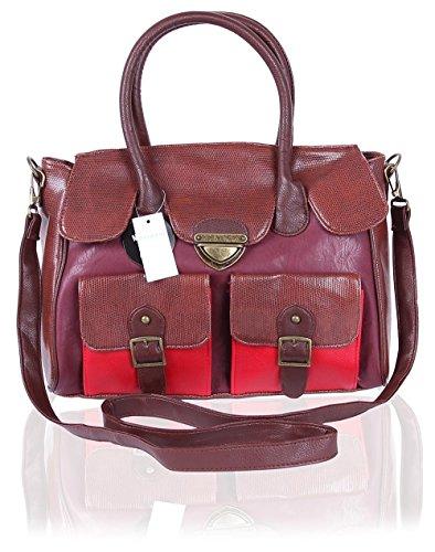 Primark - Bolso de tela para mujer Marrón marrón