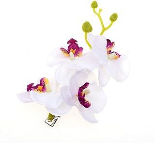 Bullidea 1x Fashion Phalaenopsis Simulation Flower Wedding Bridal Women Hair Accessories Hair Clips Girls Hair Clip Hair Clip, Weiss