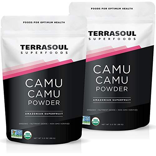 Terrasoul Superfoods Organic Camu Camu Powder 7 Oz 2 Pack  Raw | Vitamin C | Immune Support